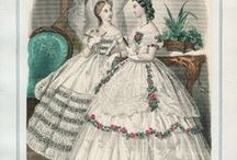 1860s Fashion - Civil war era / Fashion plates, dresses, accessories, bonnets... everything from the 1860s fashion