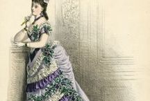 1870s Fashion / Fashion plates, dresses, accessories, bonnets... everything from the 1870s fashion