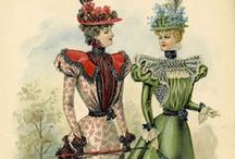 1890s Fashion - La Belle Epoque / Fashion plates, dresses, accessories, bonnets... everything from the 1890s fashion