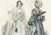 1840s Fashion / Fashion plates, dresses, accessories, bonnets... everything from the 1840s fashion