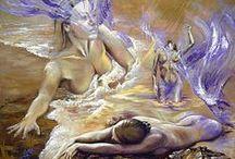 Mermaids and human butterflies  / Mermaids and butterflies art