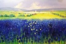Torres / A Spanish Artist with works of the european countryside and forests.