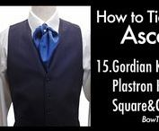 How to tie an Ascot Tie cravat, Lavalliere,Plastron,knots,tying,video アスコットタイ / Ascot Tie | Lavalliere | Plastron | How to tie,knots,tying,video,アスコットタイ,プラストロン
