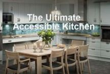 Universal Design Kitchens / If you are designing a kitchen to incorporate Universal Design elements, you should consider adding cabinets or countertops that are height adjustable. FreedomLiftSystems.com