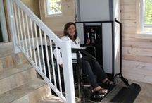 Accessible Homes / A home can be made fully accessible with a few modifications. A porch lift is one efficient way to enter your home in a wheelchair. Additions to your Universal Designed home like a pool lift, a closet lift and decorative grab bars make your home usable for generations. See websites www.FreedomLiftSystems.com and www.FreedomShowers.com