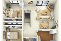 Bútorok elrendezése/alaprajzok (Furniture arrangement/Floor plans)