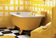 BATHROOM - YELLOW / ORANGE / by Anastasia K
