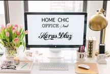 HOME CHIC OFFICE / http://horasdluz.com/ideas-para-decorar-tu-casa-online/