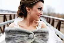 Chic Wedding Cover-ups / While staying warm may not be a concern when you get engaged in May, by the time January rolls around, you may want something to keep the chill away. An added bonus? With cover ups, a subtle change from ceremony to reception will give you two unique looks to flaunt on your wedding day.