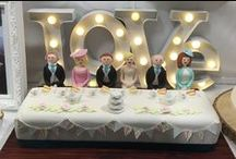 Fun & Fabulous Wedding Cakes / At Unity in Glass Europe, we love it when couples find lots of ways to fill their weddings with personality, fun and colour.  We think these wedding cakes from the Wedding Fair in Manchester fit the bill perfectly!