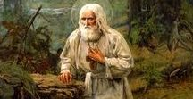 St. Seraphim of Sarov / Saint Seraphim, my friend and helper, please pray for us! Please take care of all animals that need help, like you helped your bear. Glory to God for all His saints!