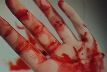 red red blood/bruises/cuts