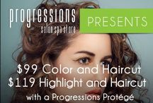 Events and Promotions / Check in daily for special events and promotions for services and for our retail department. Also, follow us on Twitter: Progressionsdc and Instagram Progressions_DC for more specials!