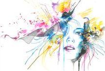 Watercolor Paintings / #watercolor #watercolorartist #artist #painting #paint #splash #color #art