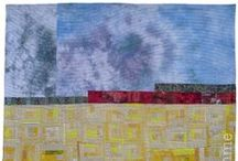 Landscape, Roots, Houses / My landscape, rooted, and house themed art quilts.