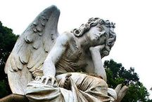"""Angels / """"For God commands the angels over you to guard you in all your ways.""""  PS 91:11 / by Aurora V."""