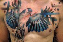 Animal tattoos / #tattoo #animal #lion #wolf #jellyfish #fish #nautilus #crow #bird #snake #elephant #panther #cougar #owl #gorilla #fox #tiger #eagle #moth #dragon #bear #phoenix