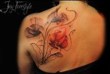 Flower tattoos / #flowers #roses #poppies #thistle #orchid #tulip #tree #lilly