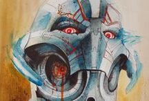 My Art 2015 / #art #painting #artist #watercolor #abstractart #abstract #skulls #animals #darkart #freehand #freestyle