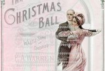 Christmas cards (vintage style) / Christmas greeting and vintage cards