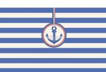 Nautical striped. Marine style. / Fashion sea striped background.  Nautical striped dress and accessories. Модный морской стиль.