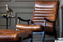 Leather & Hide / a selection of furniture and inspiration in leather/ cowhide/ calfskin etc