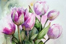 Tulips Flowers and Art / Beautiful tulips flowering, inspiration and artwork...