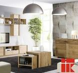 Woodline Home Concept / Wooden furniture. Elegant and colourful combination of wooden elements. Interior idea for livingroom, diningroom and home office. Designed by Klose
