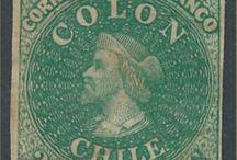 ESTAMPILLAS DE CHILE SUDAMÉRICA / Sellos chilenos