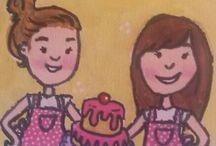 Suikerjuffies / Onze zelfgemaakte taartjes <3