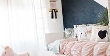 Girl's Bedroom / Girly and not so girly girl's bedrooms. Scandinavian style, eclectic, retro, neutral, bright colors, everything cute and adorable... kids decor inspiration!