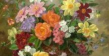 Живопись. Цветочные натюрморты. Floral still lifes,painting.