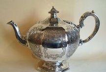 Серебряные кофейники. Антиквариат. / Silver coffee pots. Antiques.