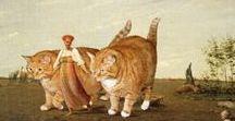 Художник Светлана Петрова / Цифровой художник Светлана Петрова настолько сильно любит котов, что перенесла образ одного рыжего проказника на картины известных живописцев. Рыжий толстяк побывал в разных исторических эпохах и даже получил порцию ласки от самой Моны Лизы!