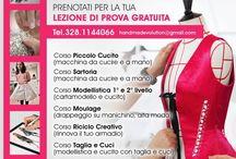 handmadevolution Italia TECNO SARTORIA / CORSI LABORATORI CULTURA STILE ITALIANO