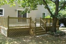 Custom Decks & Porches / Here are a few of our recent outdoor deck and porch remodeling projects.