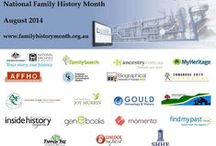 National Family History Month Australia / Celebrating genealogy and family history in Australia every August / by Shauna Hicks