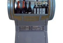 Wine Barrel Cooler / The Botticella is a refrigerated wine cellar, converted from a used oak barrel that has been carefully restored