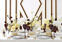 Moonlight / A wedding color palette of black, and white and goldis just right for a glamorous wedding celebration. A classic color with timeless look
