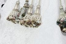 Lace stitch knit tassels!