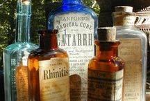 "Apothecary Medicine Bottles, Glass, & Cabinets / ""Disclaimer"":  These are ""Pins"" reflecting personal interest. I do not claim copyright or ownership of any content on this board.  I make every effort to give proper credit whenever possible. / by gwynne w"
