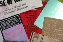 London Fashion Week Invitations / Some of our favourite designer invites for LFW