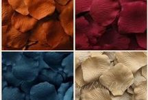 Silk Rose Petal Blends / Silk rose petals - used for weddings and special events, but sometimes you do not know what colors to blend to create the look you want to achieve.  We take popular wedding theme color palettes and create custom blends of our silk rose petal colors we sell in our store that go well together to use for your wedding or special event.
