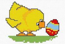 Cross stich Easter
