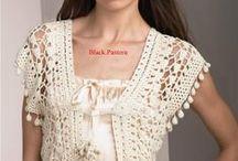 Chrochet blouse, weste