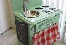 Children kitchen DIY / Barnkök