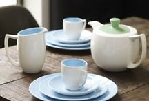 Branksome China / Two tone beautifully crafted fine china tableware. Available in a range of colours & handmade in the UK.
