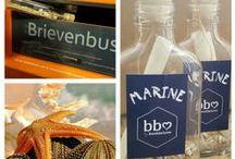 Zakelijke uitnodigingen / Een originele uitnodiging voor personeel,  relaties of prospects met een mooie  #flessenpost die past bij jouw #bedrijf, #evenement of het juiste #moment. #platte flesjes - #plastic of glas. #brievenbuspost