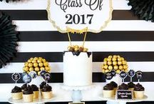 Graduation Party Ideas / Graduation - that triumphant achievement! Celebrate with gorgeous graduation party ideas in black and gold, navy, silver, preppy or vintage style. Find all the best ideas together - graduation gifts, invites, favors and decor! WELL DONE!