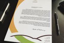 Letterhead paper. Papier firmowy. / Projekty papieru firmowego, inspiracje